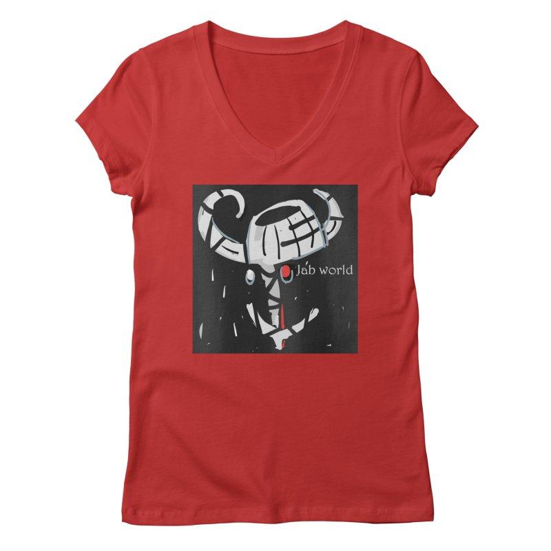 Jab Title Women's Regular V-Neck by Mozayic's Artist Shop