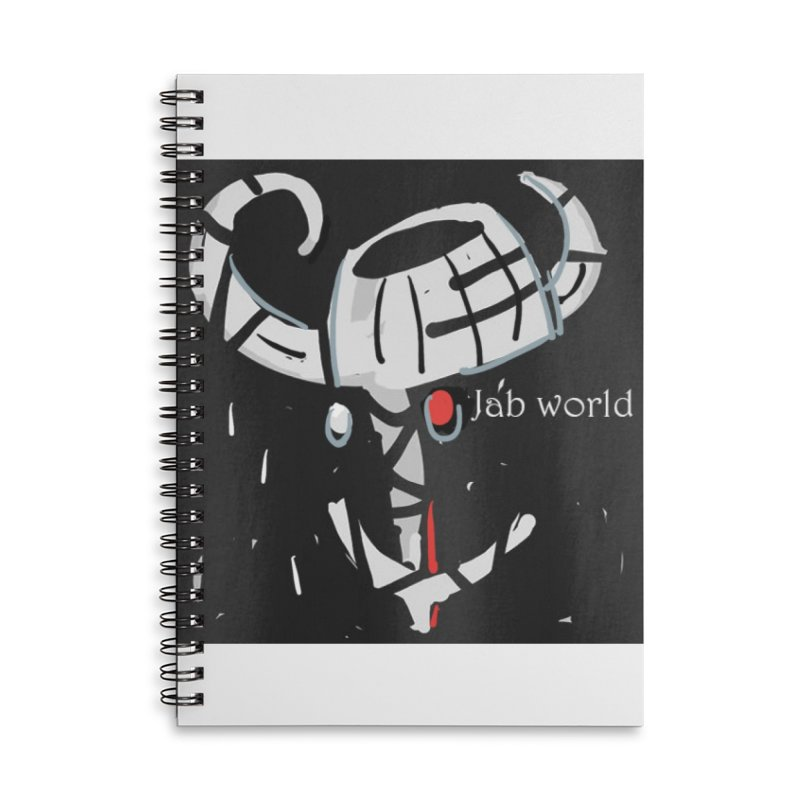Jab Title Accessories Lined Spiral Notebook by Mozayic's Artist Shop