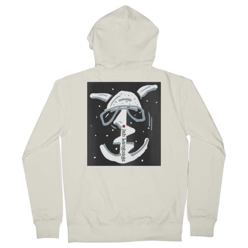 Jab Language Women's French Terry Zip-Up Hoody by Mozayic's Artist Shop