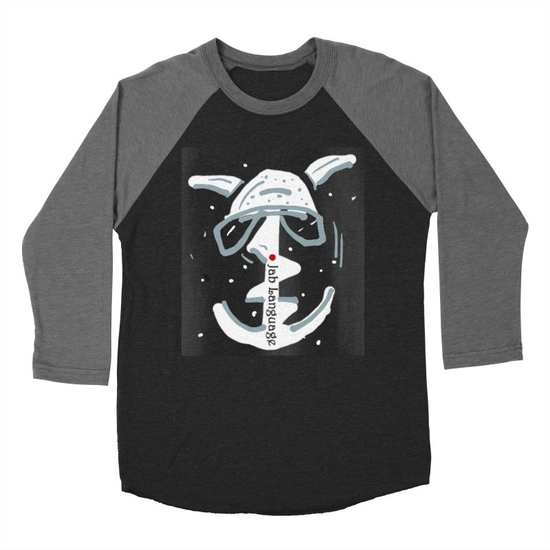 Jab Language Men's Baseball Triblend Longsleeve T-Shirt by Mozayic's Artist Shop
