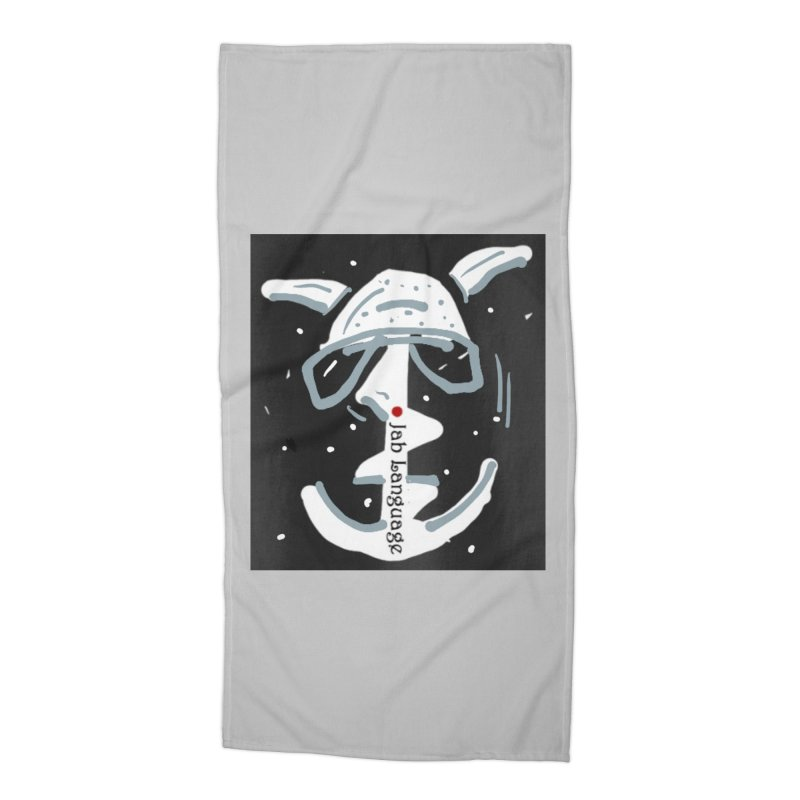 Jab Language Accessories Beach Towel by Mozayic's Artist Shop