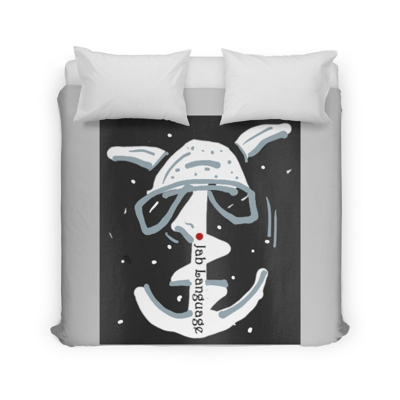 Jab Language Home Duvet by Mozayic's Artist Shop
