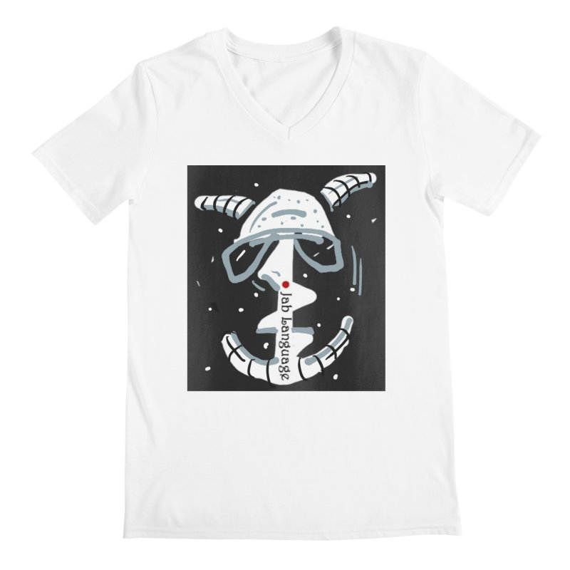 Jab Language Men's V-Neck by Mozayic's Artist Shop