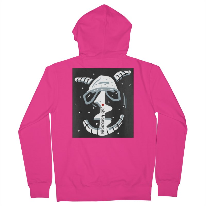 Jab Language Men's French Terry Zip-Up Hoody by Mozayic's Artist Shop
