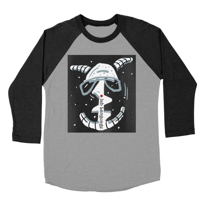 Jab Language Men's Baseball Triblend Longsleeve T-Shirt by Mozayic's Artist Shop