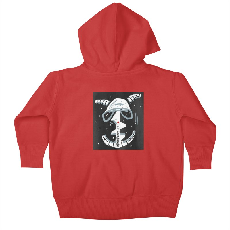 Jab Language Kids Baby Zip-Up Hoody by Mozayic's Artist Shop