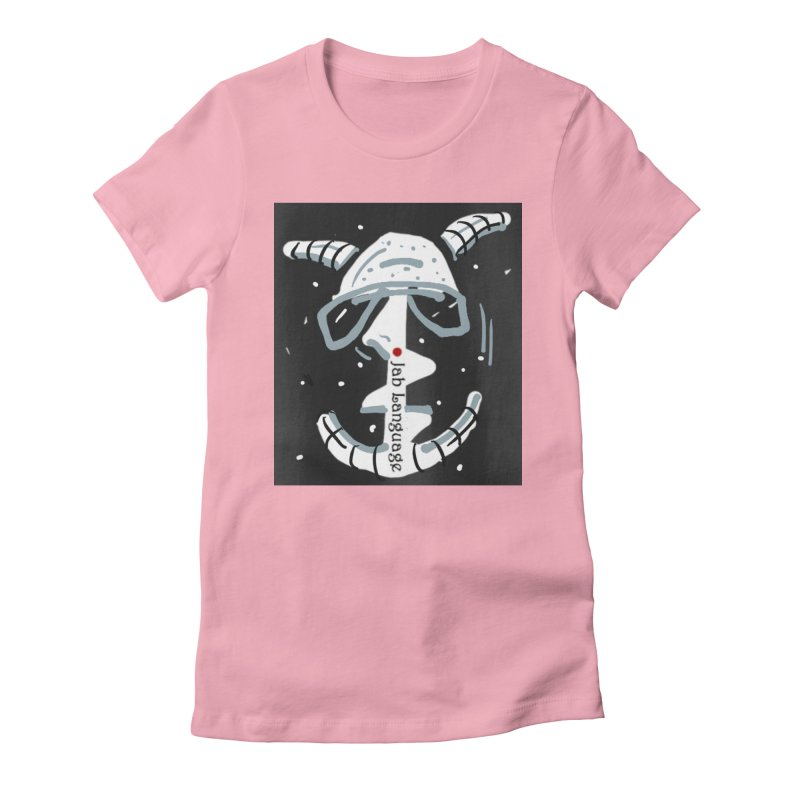 Jab Language Women's Fitted T-Shirt by Mozayic's Artist Shop