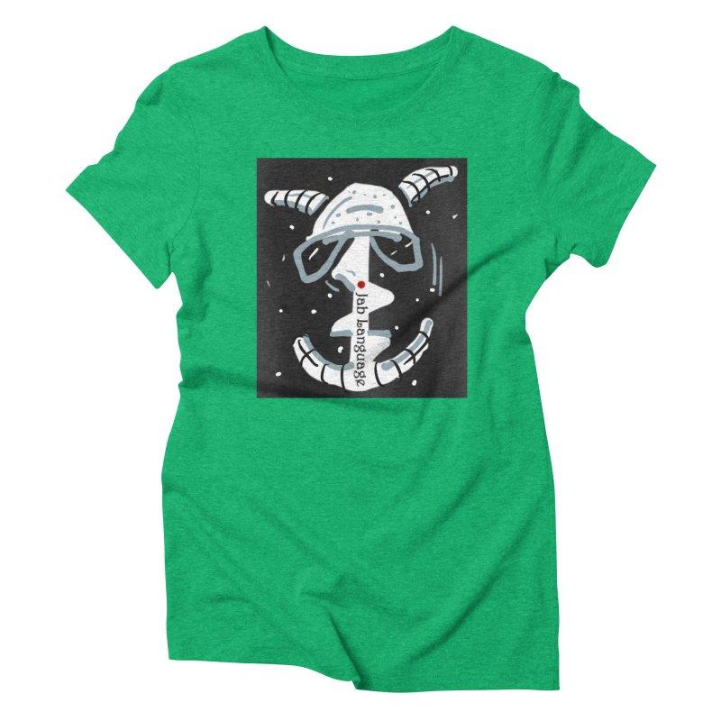 Jab Language Women's Triblend T-Shirt by Mozayic's Artist Shop