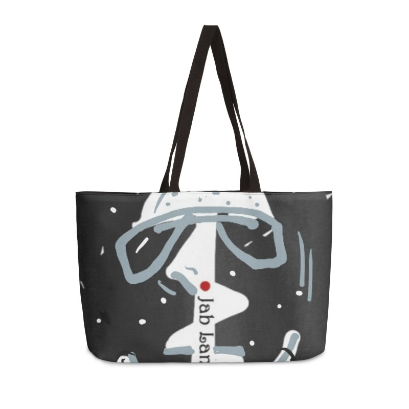 Jab Language Accessories Weekender Bag Bag by Mozayic's Artist Shop