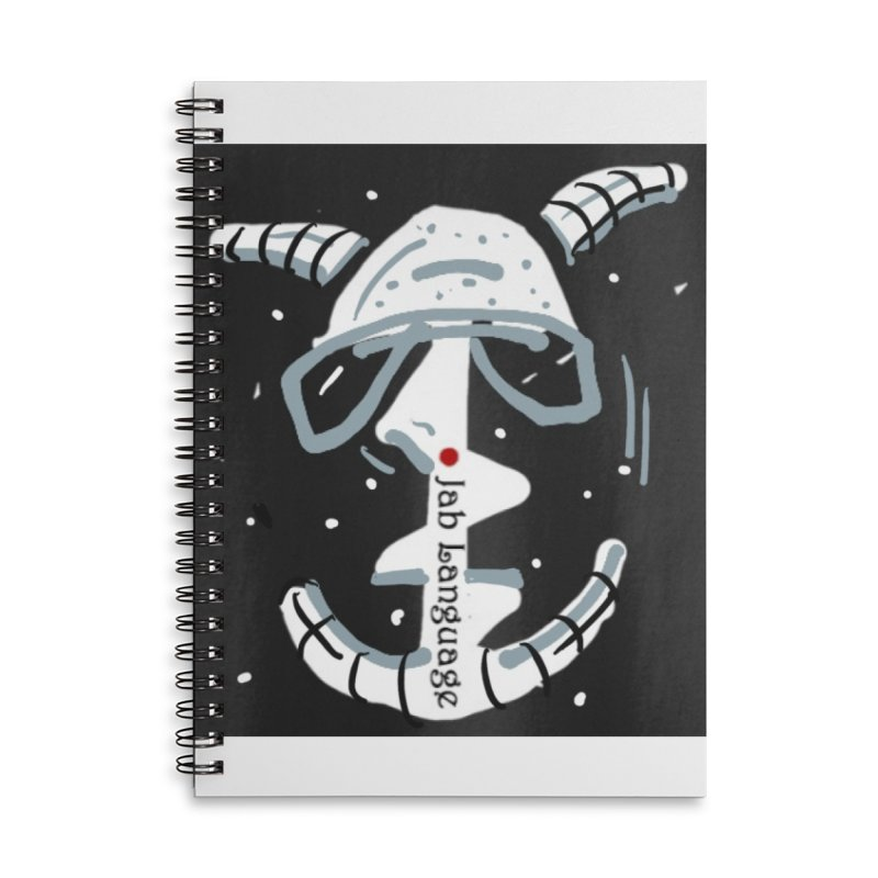 Jab Language Accessories Lined Spiral Notebook by Mozayic's Artist Shop