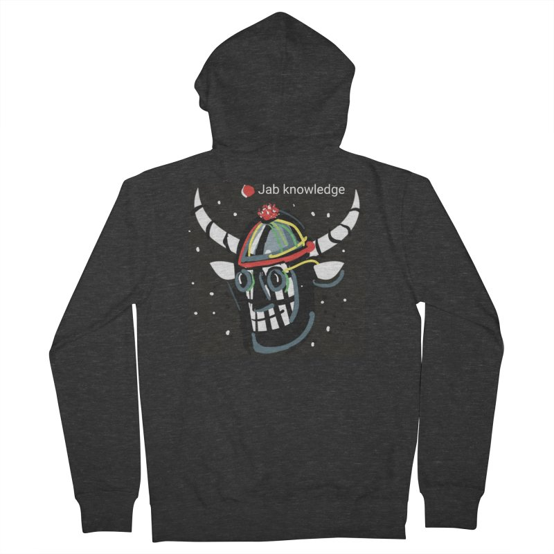 Jab knowledge Men's French Terry Zip-Up Hoody by Mozayic's Artist Shop