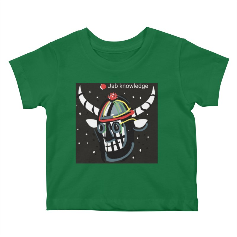 Jab knowledge Kids Baby T-Shirt by Mozayic's Artist Shop