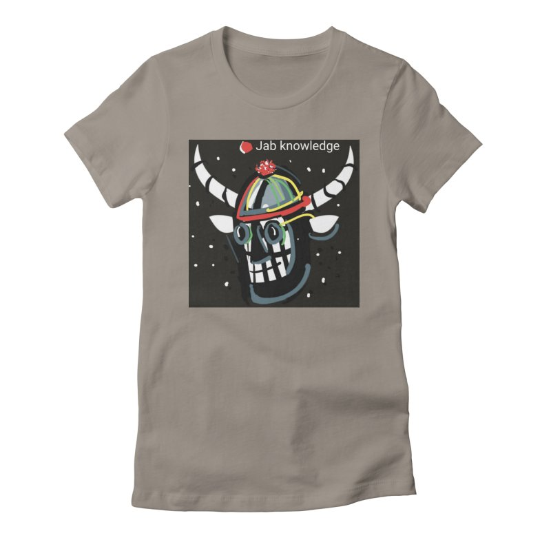 Jab knowledge Women's Fitted T-Shirt by Mozayic's Artist Shop