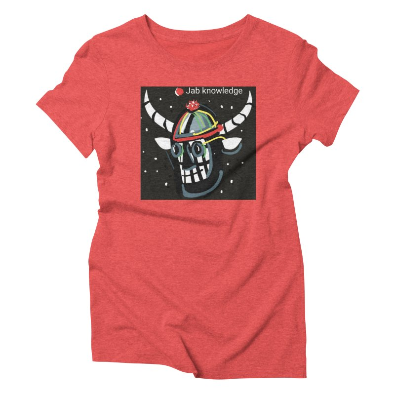 Jab knowledge Women's Triblend T-Shirt by Mozayic's Artist Shop