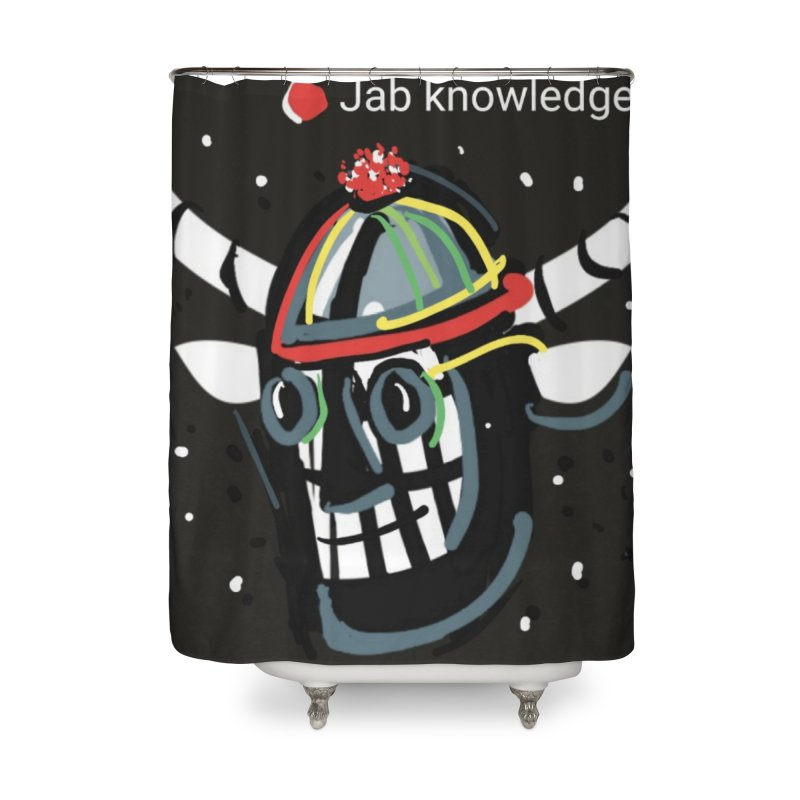 Jab knowledge Home Shower Curtain by Mozayic's Artist Shop