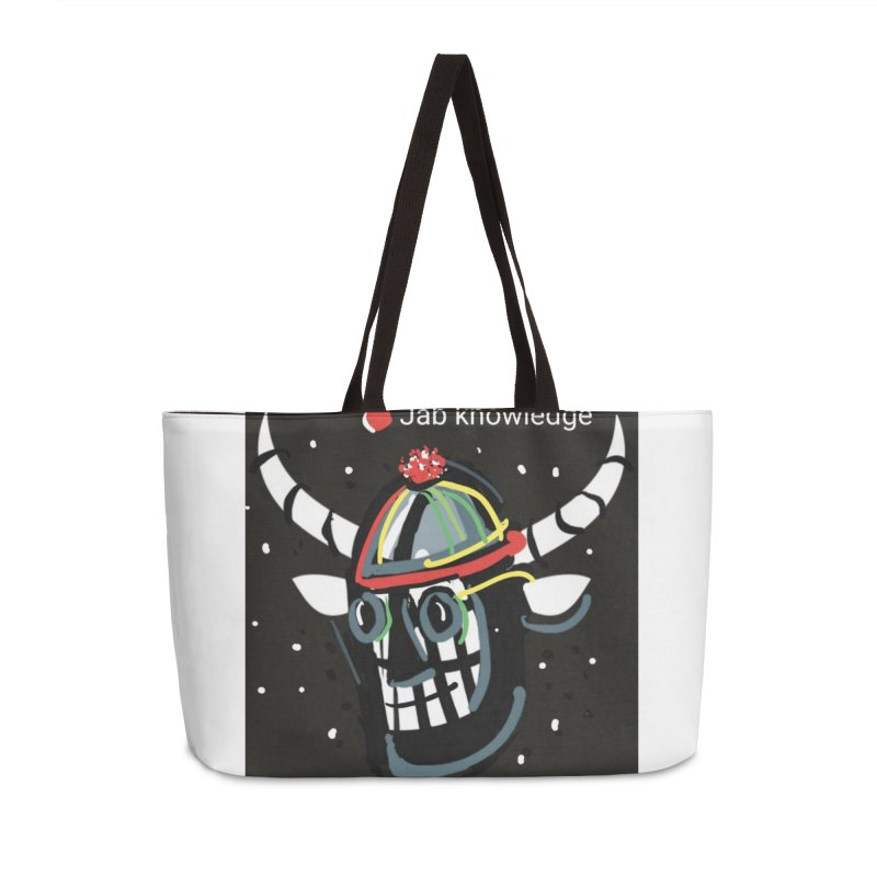 Jab knowledge Accessories Weekender Bag Bag by Mozayic's Artist Shop