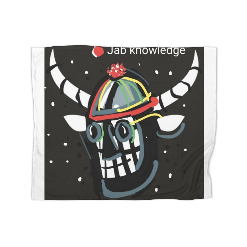 Jab knowledge Home Fleece Blanket Blanket by Mozayic's Artist Shop