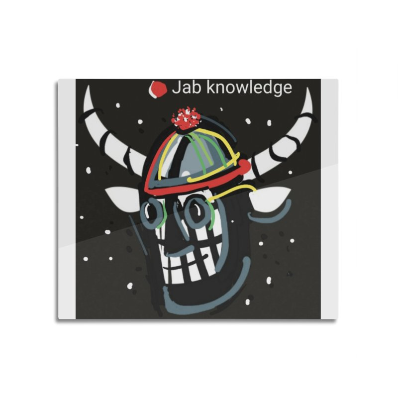 Jab knowledge Home Mounted Aluminum Print by Mozayic's Artist Shop