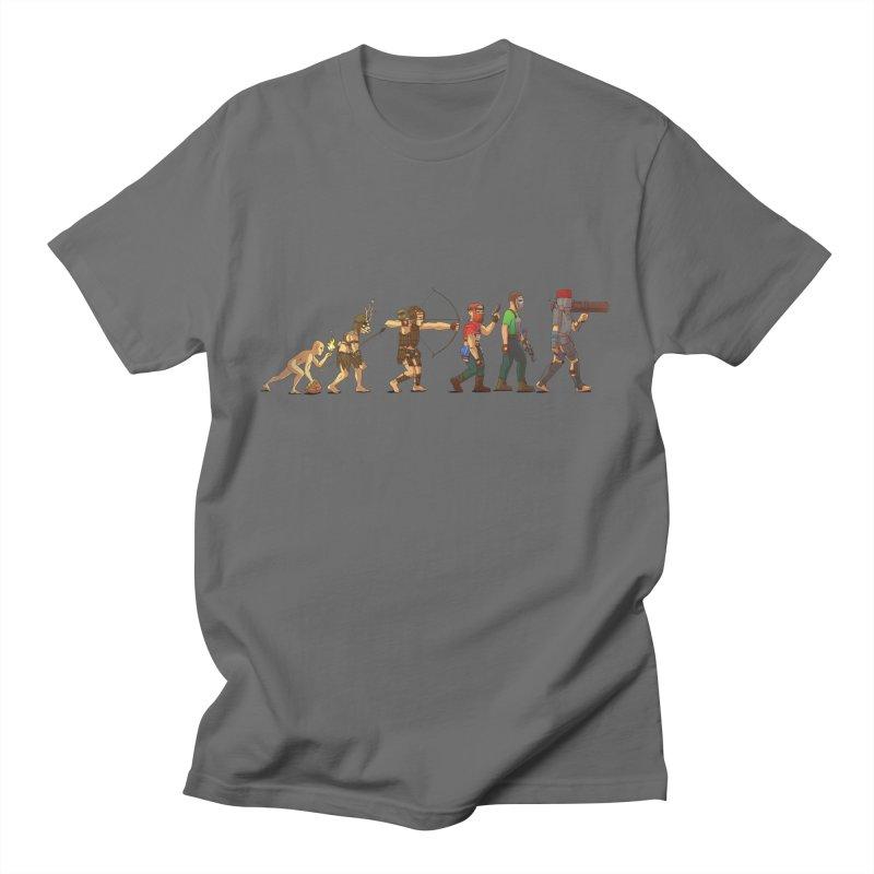 RUST EVOLUTION Men's T-Shirt by MrGoose's AMAZEBALLS designs