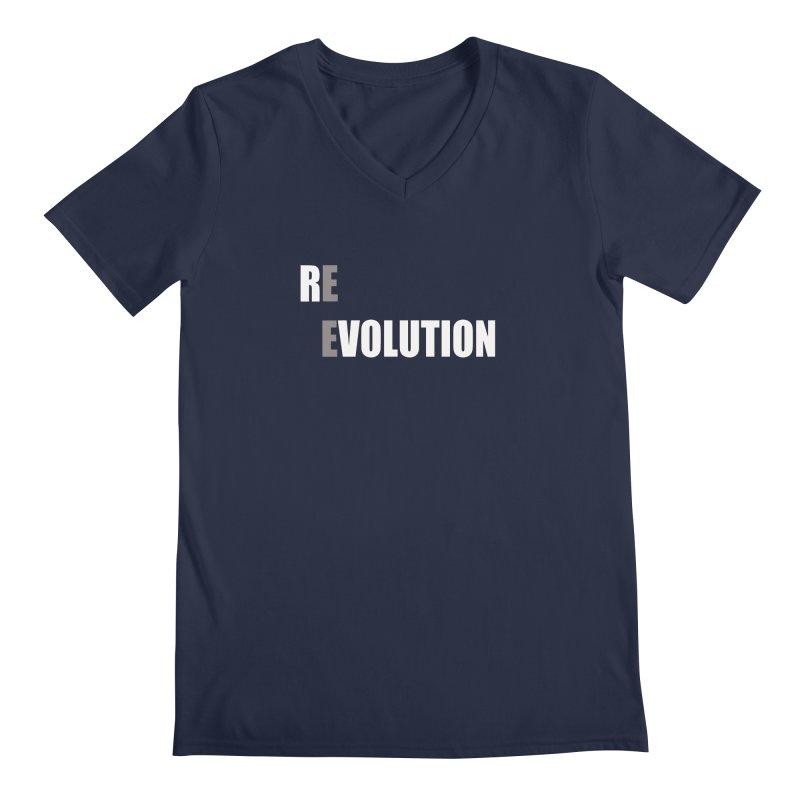 RE - EVOLUTION (Dark Shirts) Men's Regular V-Neck by Mr Tee's Artist Shop