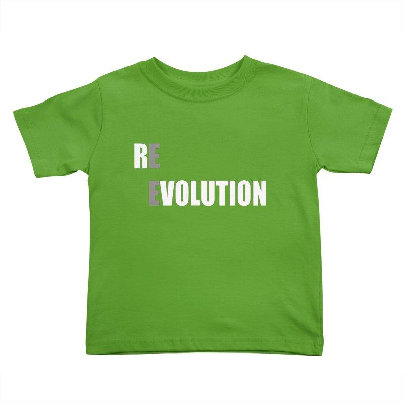 RE - EVOLUTION (Dark Shirts) Kids Toddler T-Shirt by Mr Tee's Artist Shop