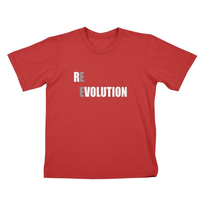 RE - EVOLUTION (Dark Shirts) Kids T-Shirt by Mr Tee's Artist Shop