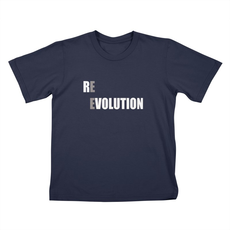 RE - EVOLUTION (Dark Shirts) Kids T-Shirt by Mr Tee's Artist Shop
