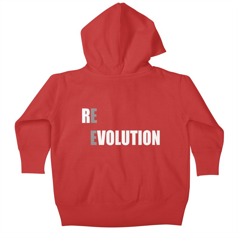 RE - EVOLUTION (Dark Shirts) Kids Baby Zip-Up Hoody by Mr Tee's Artist Shop