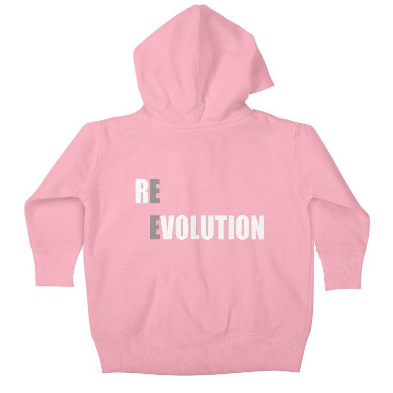 RE - EVOLUTION (Dark Shirts) Kids Baby Zip-Up Hoody by Mr Tee's Artist Shop