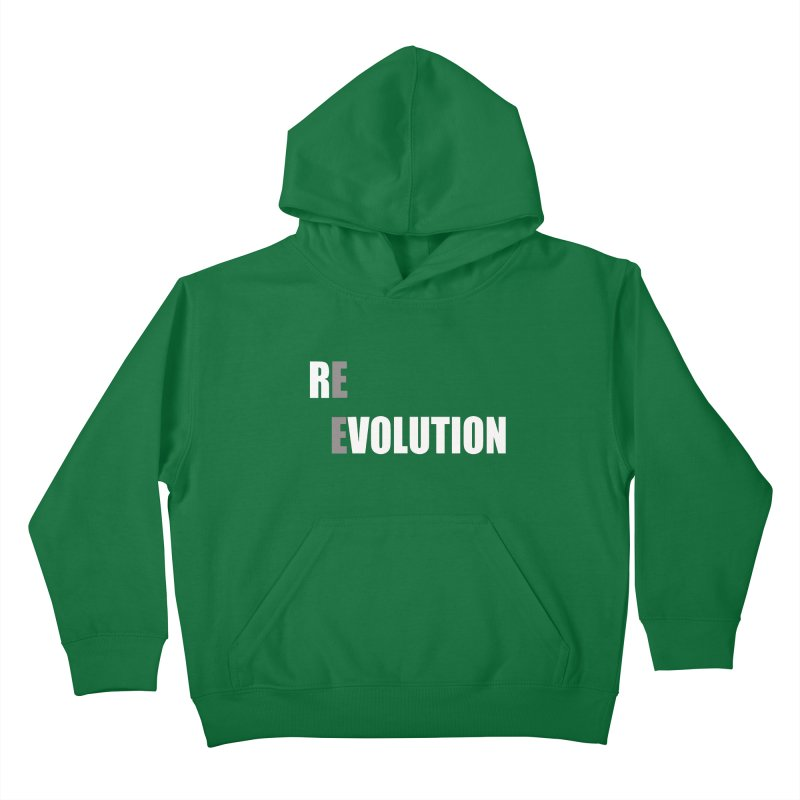 RE - EVOLUTION (Dark Shirts) Kids Pullover Hoody by Mr Tee's Artist Shop