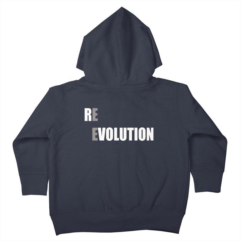 RE - EVOLUTION (Dark Shirts) Kids Toddler Zip-Up Hoody by Mr Tee's Artist Shop