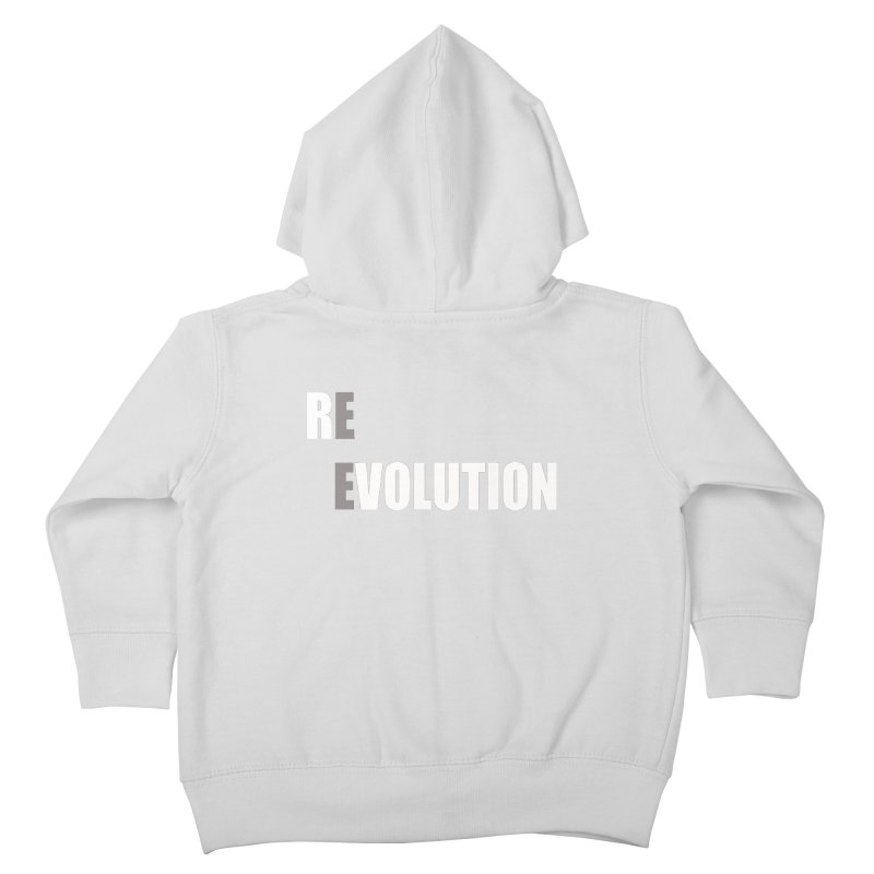 RE - EVOLUTION (Dark Shirts) Kids Toddler Zip-Up Hoody by Mr Tee's Artist Shop
