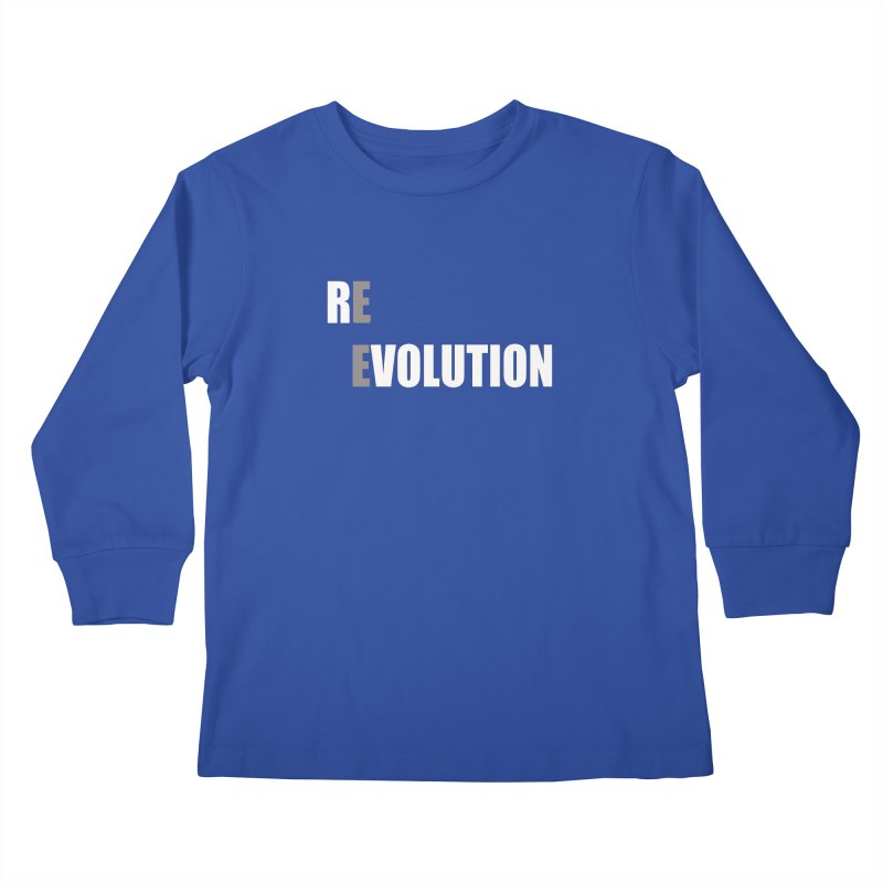 RE - EVOLUTION (Dark Shirts) Kids Longsleeve T-Shirt by Mr Tee's Artist Shop