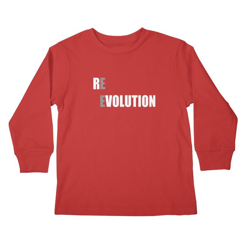 RE - EVOLUTION (Dark Shirts) Kids Longsleeve T-Shirt by Mr Tee's Artist Shop