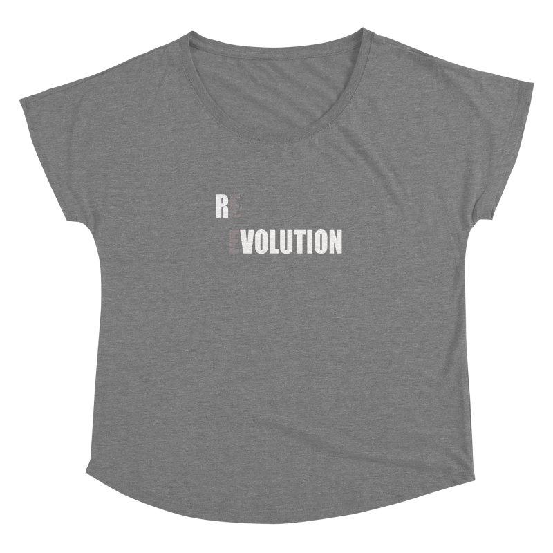 RE - EVOLUTION (Dark Shirts) Women's Scoop Neck by Mr Tee's Artist Shop