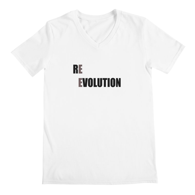 RE - EVOLUTION (Light Shirts) Men's Regular V-Neck by Mr Tee's Artist Shop