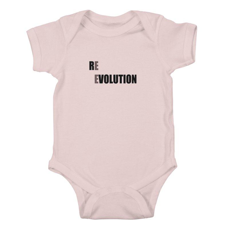 RE - EVOLUTION (Light Shirts) Kids Baby Bodysuit by Mr Tee's Artist Shop