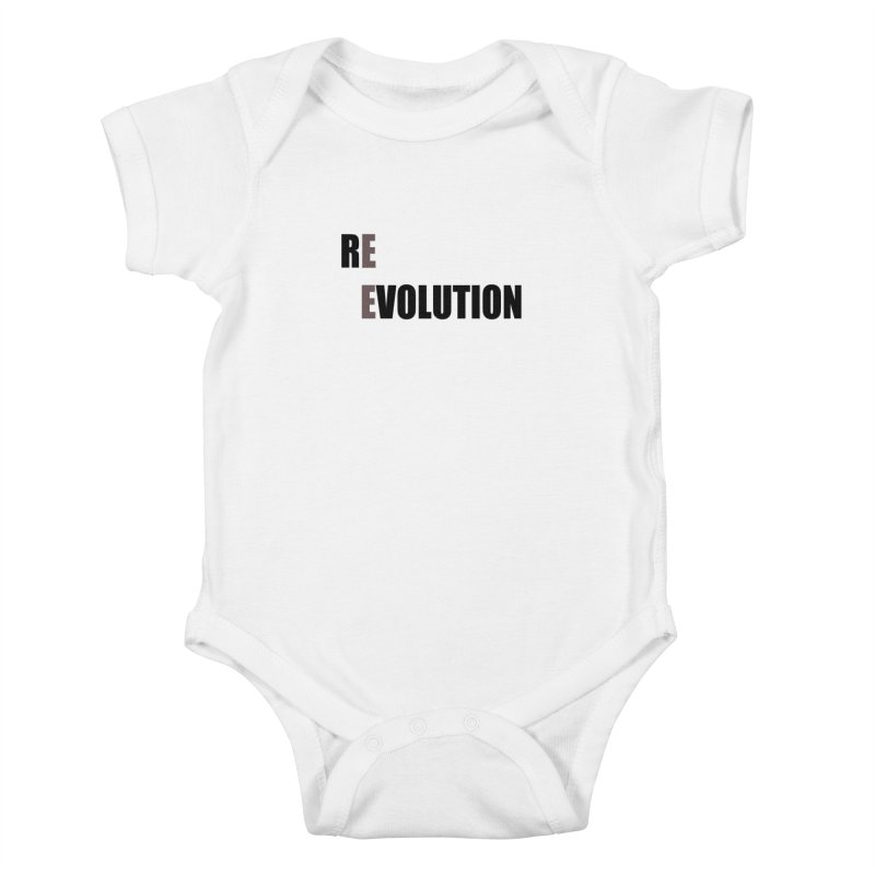 RE - EVOLUTION (Light Shirts) Kids Baby Bodysuit by Mr Tee's Artist Shop