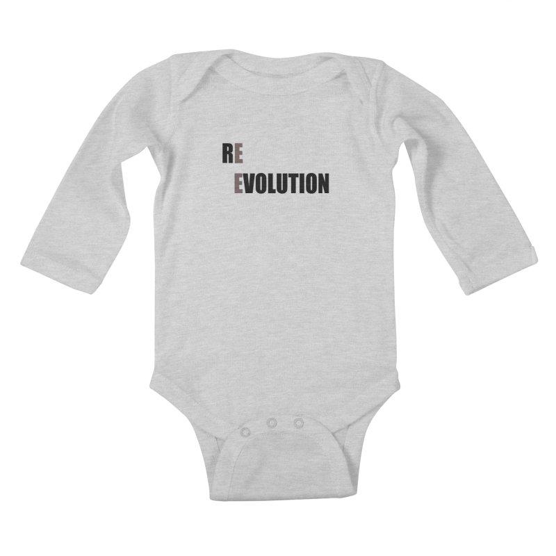 RE - EVOLUTION (Light Shirts) Kids Baby Longsleeve Bodysuit by Mr Tee's Artist Shop