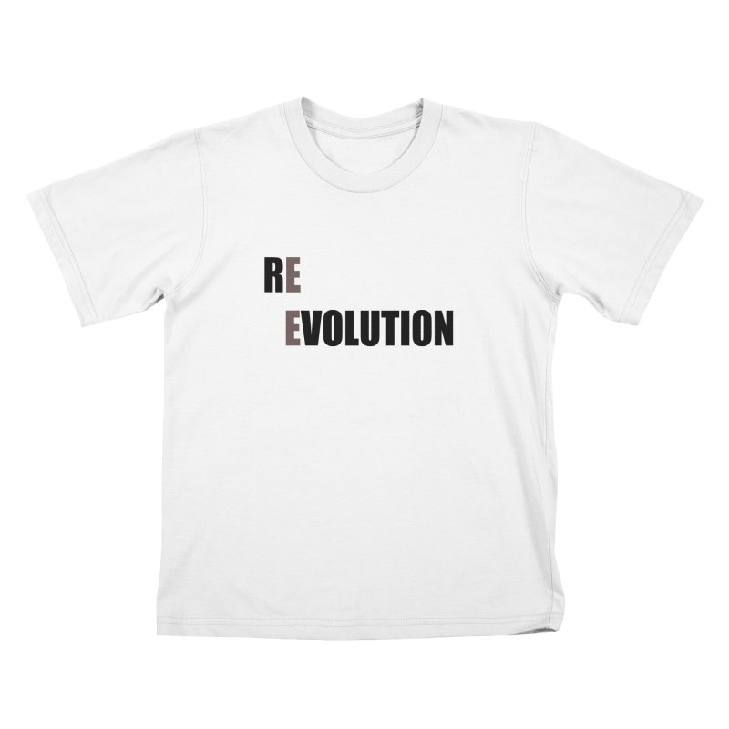 RE - EVOLUTION (Light Shirts) Kids T-Shirt by Mr Tee's Artist Shop