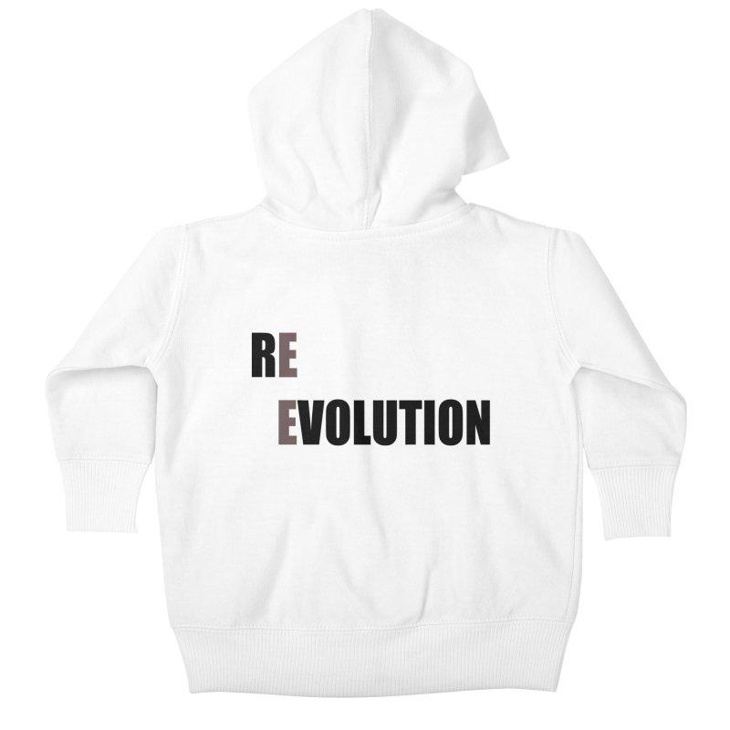 RE - EVOLUTION (Light Shirts) Kids Baby Zip-Up Hoody by Mr Tee's Artist Shop