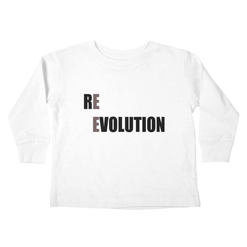 RE - EVOLUTION (Light Shirts) Kids Toddler Longsleeve T-Shirt by Mr Tee's Artist Shop