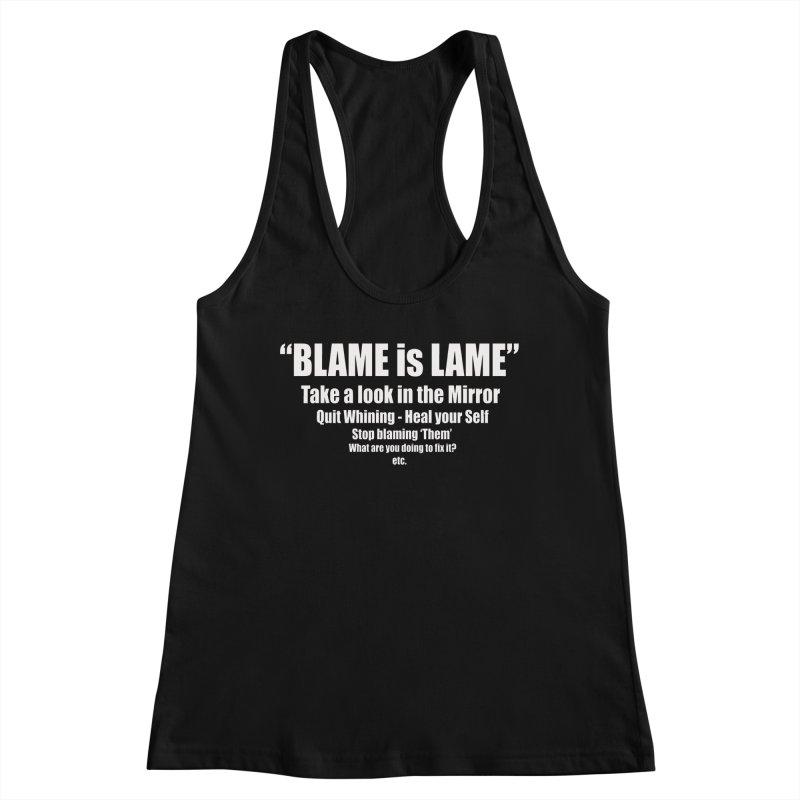 Blame is Lame (Dark Shirts) Women's Tank by Mr Tee's Artist Shop