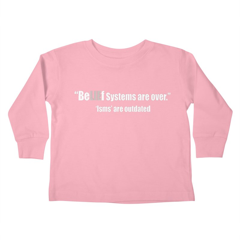 Be LIE f Systems (Dark Shirts) Kids Toddler Longsleeve T-Shirt by Mr Tee's Artist Shop