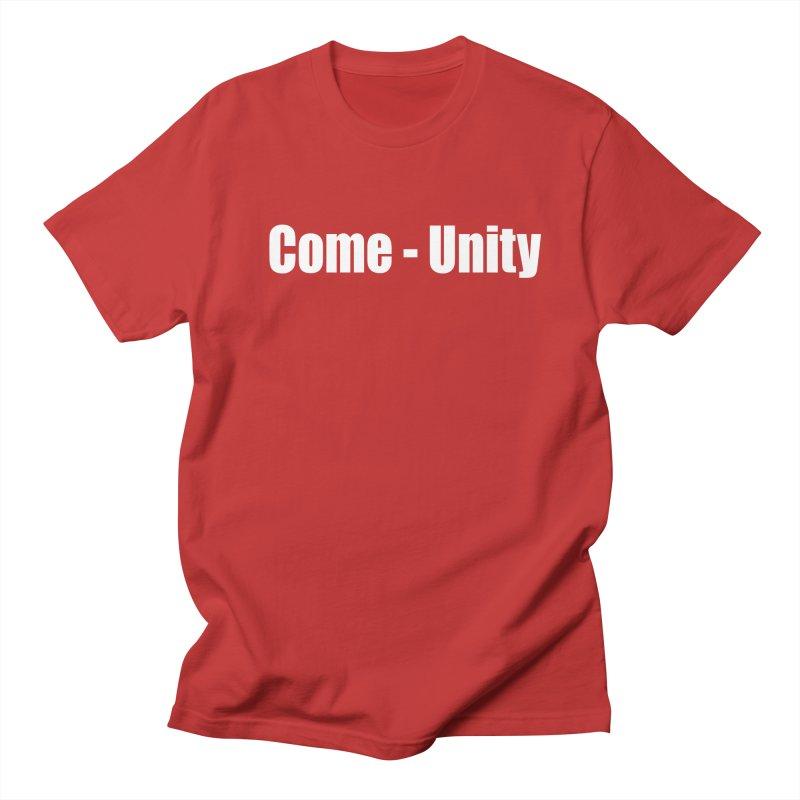 COME-UNITY Men's Regular T-Shirt by Mr Tee's Artist Shop