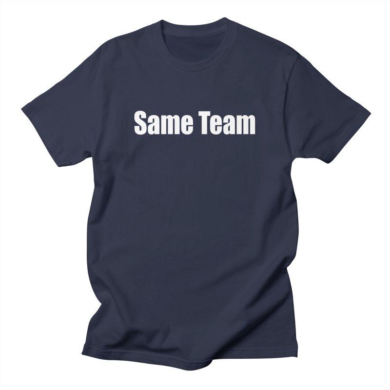 Same Team Men's Regular T-Shirt by Mr Tee's Artist Shop
