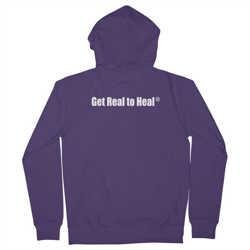 Get Real to Heal - White (no signature) Women's French Terry Zip-Up Hoody by Mr Tee's Artist Shop
