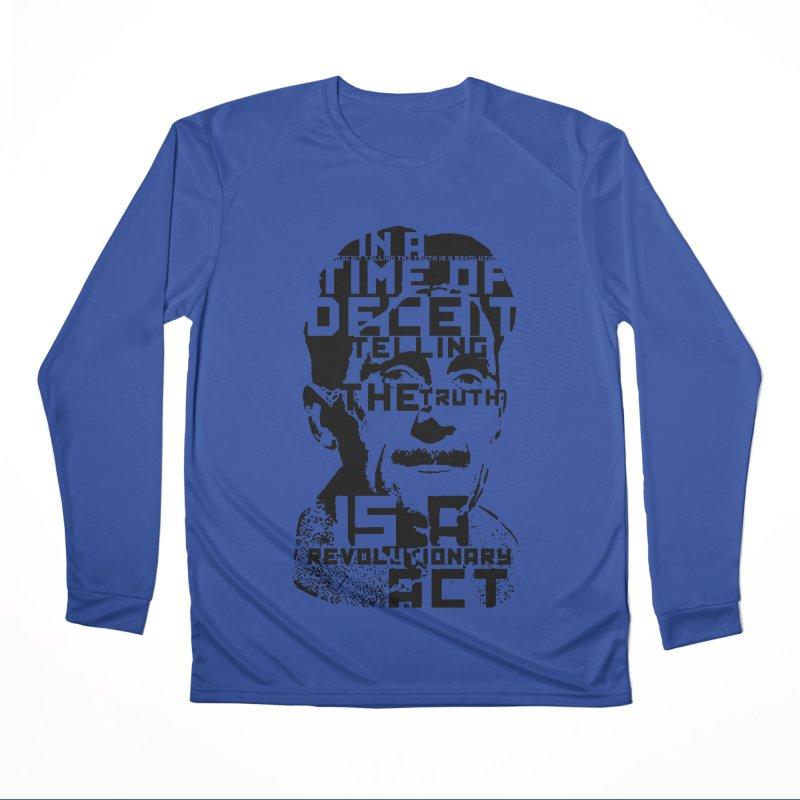Orwell 'Deceit' (Black Style) Men's Performance Longsleeve T-Shirt by Mr Tee's Artist Shop