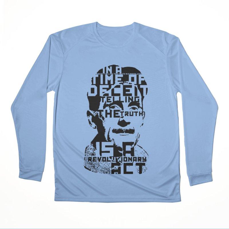 Orwell 'Deceit' (Black Style) Men's Longsleeve T-Shirt by Mr Tee's Artist Shop
