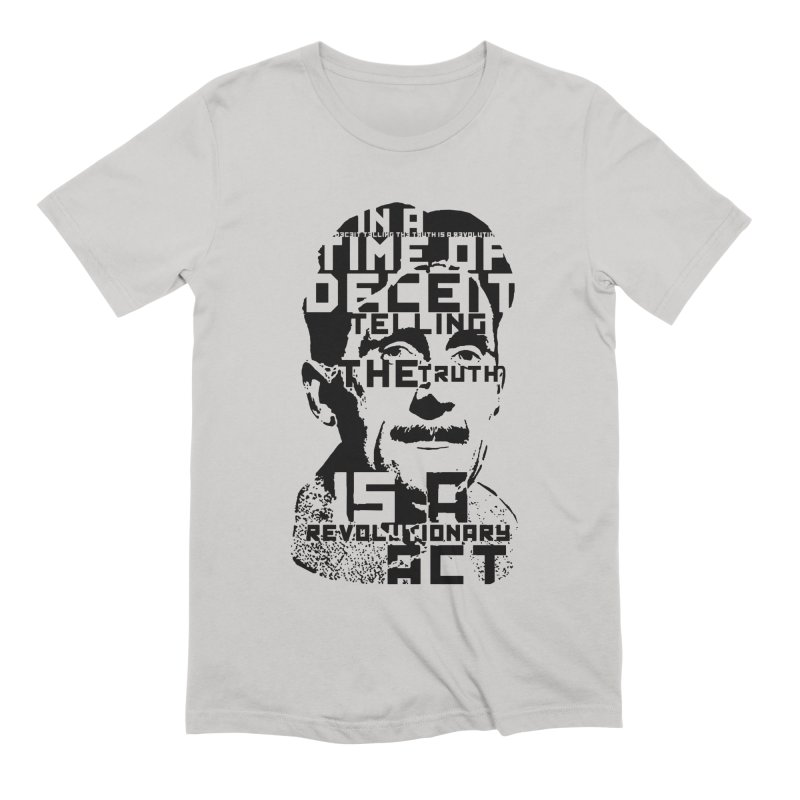 Orwell 'Deceit' (Black Style) Men's Extra Soft T-Shirt by Mr Tee's Artist Shop